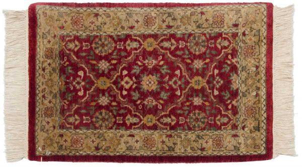 1x2 agra burgundy oriental rug 038862