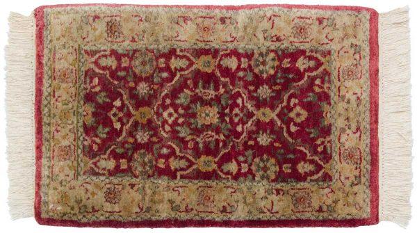 1x2 agra burgundy oriental rug 039184