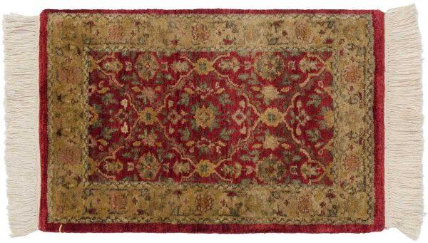 1x2 agra burgundy oriental rug 046556