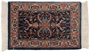 1×2 Bijar Oriental Blue Hand-Knotted Rug