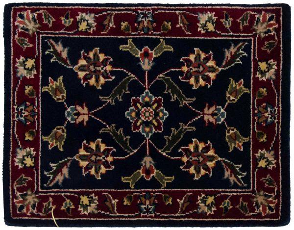1x2 kashan blue oriental square rug 041333