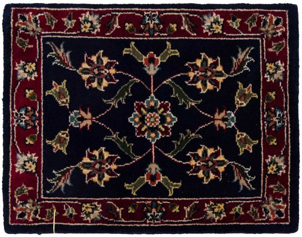 1x2 kashan blue oriental square rug 041337