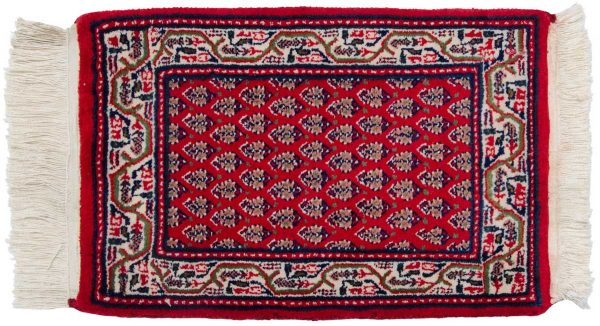 1x2 persian red oriental rug 037717