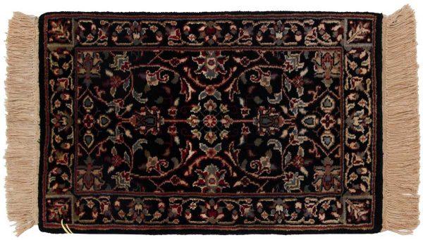 1x2 tabriz black oriental rug 038332