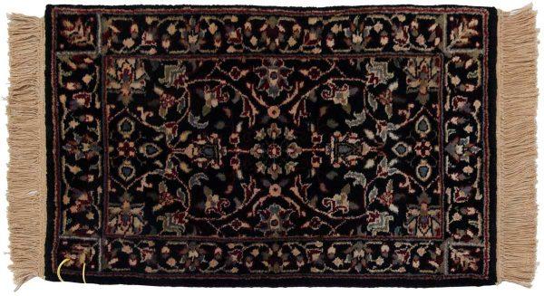 1x2 tabriz black oriental rug 038333