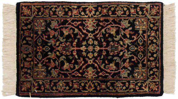 1x2 tabriz black oriental rug 038616