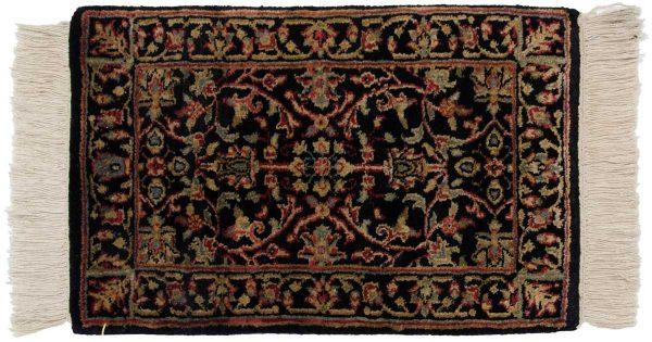 1x2 tabriz black oriental rug 039191