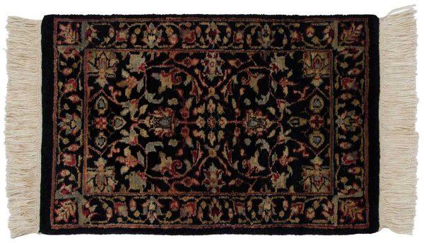 1x2 tabriz black oriental rug 039192