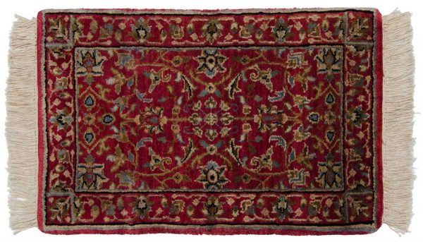 1x2 tabriz red oriental rug 039195