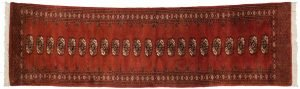 2×10 Vintage Bokhara Oriental Rust Hand-Knotted Rug Runner