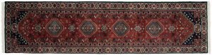 2×10 Ghashghai Oriental Rust Hand-Knotted Rug Runner