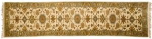 2×10 Sultanabad Oriental Ivory Hand-Knotted Rug Runner