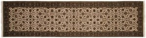 2×10 Kashan Oriental Ivory Hand-Knotted Rug Runner