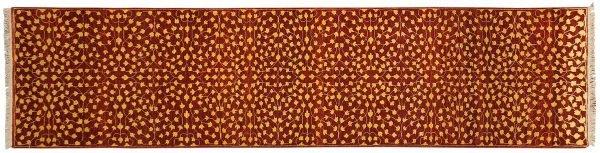 2x10 modern rust oriental rug runner 043783