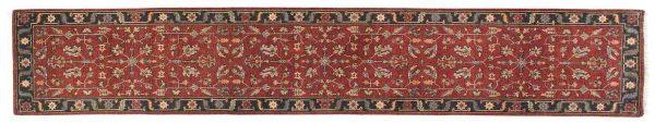 2x12 heriz red oriental rug runner 044177