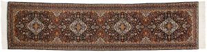 2×12 Kashan Oriental Blue Hand-Knotted Rug Runner