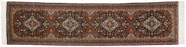 2x12 kashan blue oriental rug runner 025237