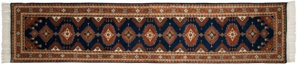 2x12 salore blue oriental rug runner 014579