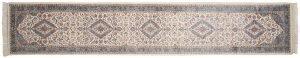 2×14 Vintage Kashan Oriental Ivory Hand-Knotted Rug Runner