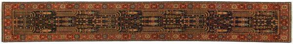 2x14 persian blue oriental rug runner 045158