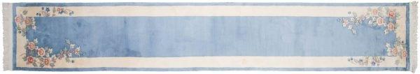 2x15 art deco blue oriental rug runner 018882