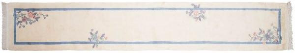 2x15 art deco ivory oriental rug runner 018884