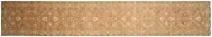 2×15 Chobi Oriental Brown Hand-Knotted Rug Runner