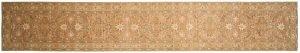 2×15 Chobi Oriental Brown Hand-Knotted Rug Runner