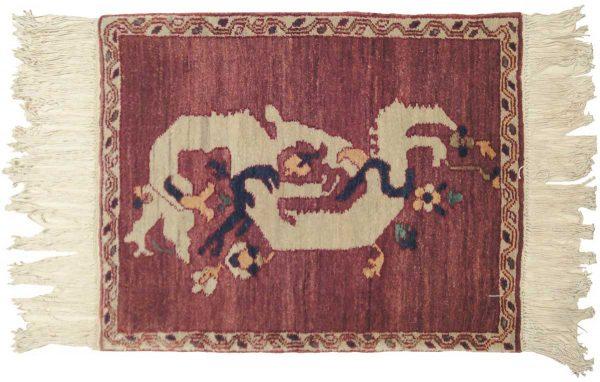 2x2 dragon red oriental rug 020320