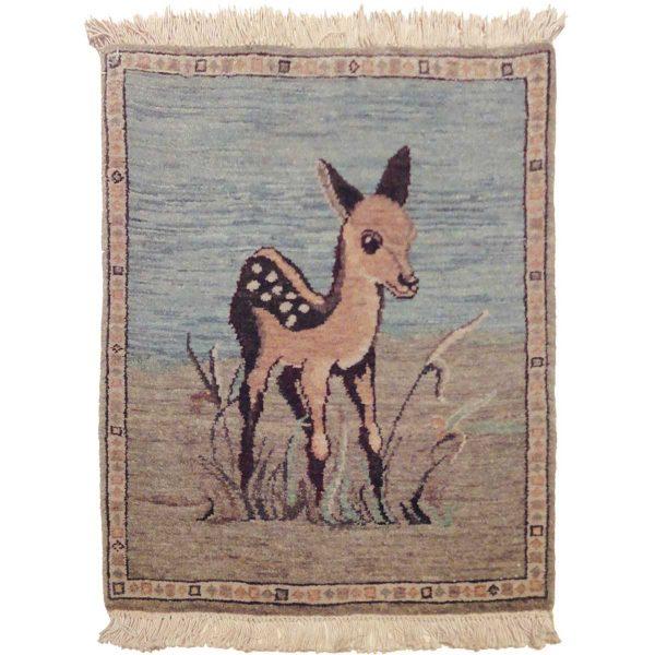 2x2 fawn blue oriental rug 020728