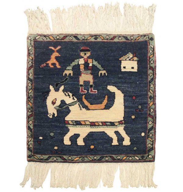 2x2 mule blue oriental square rug 020315