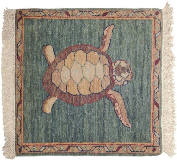 2x2 turtle green oriental square rug 020527