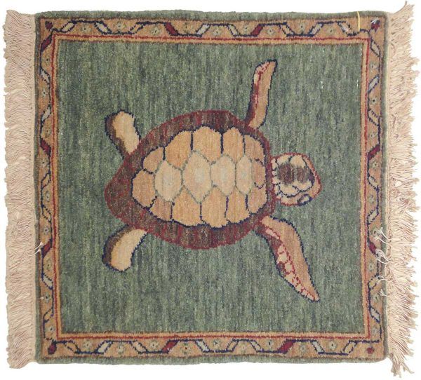 2x2 turtle green oriental square rug 020934