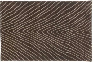 2×3 Herringbone Oriental Brown Hand-Knotted Rug