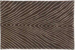 2×3 Herringbone Oriental Brown Hand-Knotted Rug