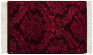 2×3 Vintage Damask Oriental Burgundy Hand-Knotted Rug