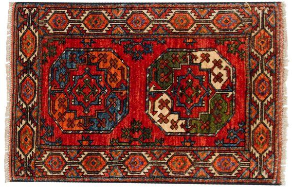 2x3 ersari rust oriental rug 048890