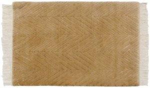 2×3 Vintage Modern Oriental Gold Hand-Knotted Rug