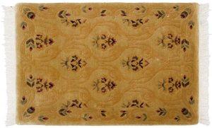 2×3 Vintage Damask Oriental Gold Hand-Knotted Rug