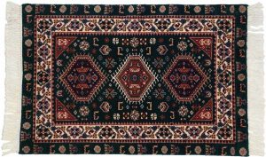 2×3 Vintage Shiraz Oriental Green Hand-Knotted Rug