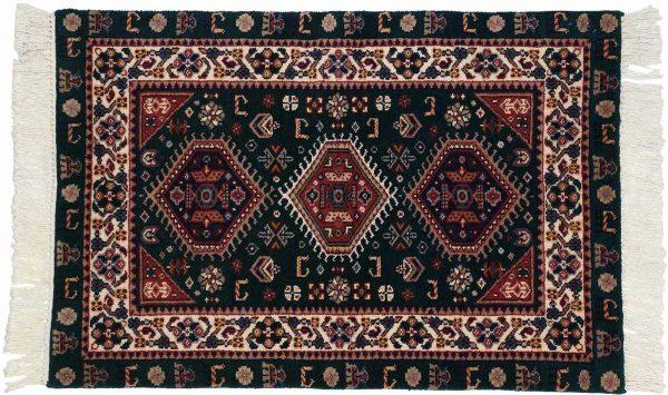 2x3 green oriental rug 024522
