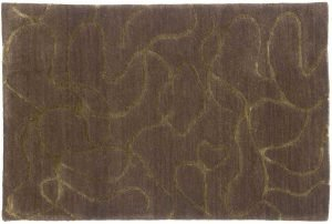 2×3 Swirl Oriental Grey Hand-Knotted Rug