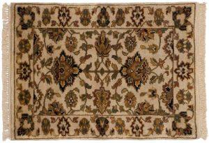 2×3 Jaipur Oriental Beige Hand-Knotted Rug