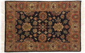 2×3 Jaipur Oriental Black Hand-Knotted Rug