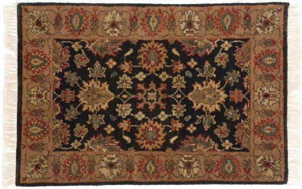 2x3 jaipur black oriental rug 011403
