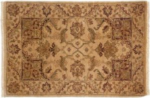 2×3 Jaipur Oriental Gold Hand-Knotted Rug