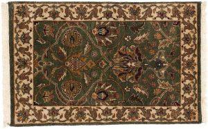 2×3 Jaipur Oriental Green Hand-Knotted Rug