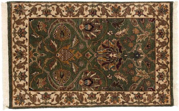 2x3 jaipur green oriental rug 043845