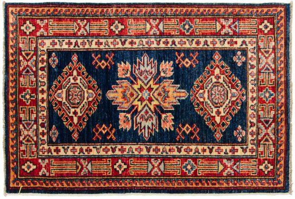 2x3 kazak blue oriental rug 046463