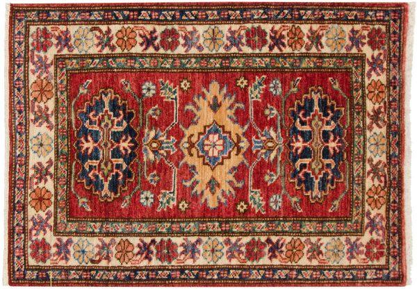 2x3 kazak red oriental rug 048852